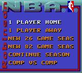 NBA Action Starring David Robinson Game Gear game selection