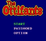 The Ottifants Game Gear Main title screen