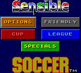 Sensible Soccer: European Champions: 92/93 Edition Game Gear Main menu