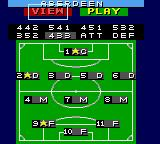 Sensible Soccer: European Champions: 92/93 Edition Game Gear setting team