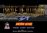 Castle of Illusion starring Mickey Mouse Genesis Title screen