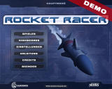 Rocket Racer Windows Main menu (demo version)