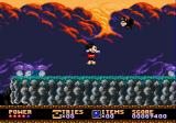 Castle of Illusion starring Mickey Mouse Genesis A dark level with mushrooms and birds