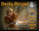 Becky Brogan: The Mystery of Meane Manor Windows Main menu