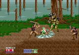 Golden Axe II Genesis The dwarf goes crazy when seeing so many enemies in a forest