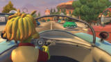 Planet 51: The Game Xbox 360 Driving through the city with the close camera