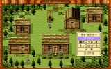 Shin'ō Densetsu Crystania PC-98 Boakes finds yet another village, with houses looking like toilets. Boakes opens the menu