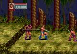 Golden Axe III Genesis Fighting in a forest