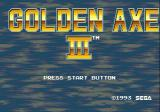 Golden Axe III Genesis Title screen