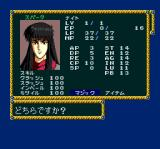 Record of Lodoss War II TurboGrafx CD Character stats