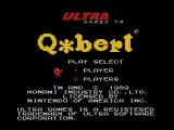Q*bert NES Title screen