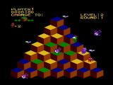 Q*bert NES Lookout, many creatures are after Q*Bert!