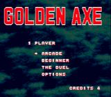Golden Axe Genesis Main menu