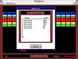 Brickbuster Windows 3.x High score table