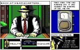 Dick Tracy: The Crime-Solving Adventure DOS Menu. The choices are at the bottom right