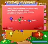 Candy Cannon Browser Opening Screen