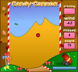 Candy Cannon Browser Shooting red gumball