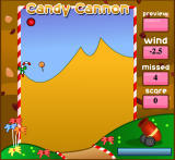 Candy Cannon Browser Candy cane falling