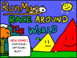 RunMan: Race Around the World Windows Main menu