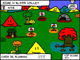 RunMan: Race Around the World Windows Level selection screen in the first zone
