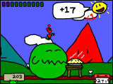 RunMan: Race Around the World Windows The first boss has been satisfied with pie.