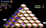 Q*bert Commodore 64 Smacked on the head by the red ball