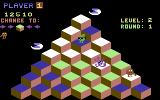 Q*bert Commodore 64 That guy with glasses changes tiles to the wrong color