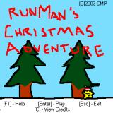 RunMan's Christmas Adventure Windows Main menu