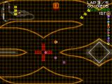 Super Laser Racer Windows A wise opponent has dropped some mines (purple hexagons) near the central branch area. While not a total hindrance, it is now risky to choose to go on the weapon pick-ups or to take the lower branch.