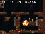 Spelunky Windows Blowing up enemies with a bomb