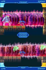 Chronos Twin Nintendo DS Up next - a forced-scrolling stage through some mind-bending double-screen platforming!