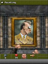 Wolfenstein RPG J2ME Adolf gets punched.