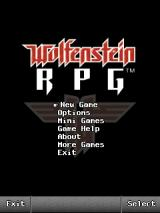Wolfenstein RPG J2ME Main menu