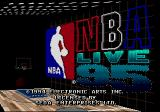 NBA Live 95 Genesis Title screen