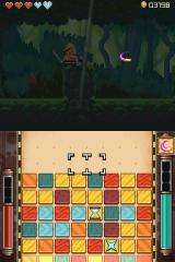 Henry Hatsworth in the Puzzling Adventure Nintendo DS Any time your puzzle timer has anything in it - you can switch over to the puzzle screen to gain powerups and clean out the enemy blocks.
