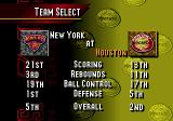 NBA Live 95 Genesis Selecting a team