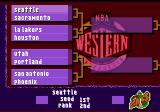NBA Live 97 Genesis Playoff table