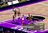 NBA Live 97 Genesis Nice shot :) Lots of stats appear on the screen during the game