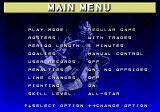 NHL 97 Genesis Main menu