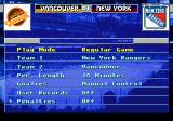 NHL 95 Genesis Main menu