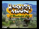 Harvest Moon: A Wonderful Life GameCube Title screen.