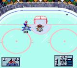 NHL 95 Genesis The goalie went too far away... ;D
