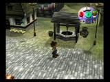 Harvest Moon: A Wonderful Life GameCube Exploring the town. Here is the water well.