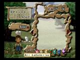 Harvest Moon: A Wonderful Life GameCube Inventory/purchase screen.