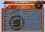 NHL 96 Genesis Main menu