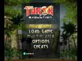 Turok: Evolution GameCube Main menu.