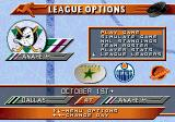 NHL 96 Genesis League options
