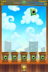Green Fingers iPhone Fertilizer is falling from the sky - make it fall into a pot