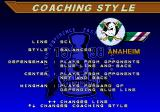 NHL 98 Genesis Choosing coaching style during a game