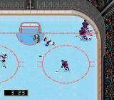NHL 98 Genesis Everyone rush to the puck...